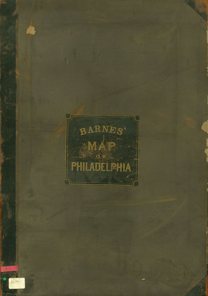 Map of the Whole Incorporated City of Philadelphia, 1867, Cover
