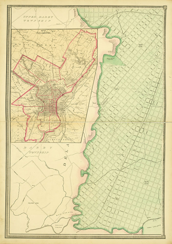Map of the Whole Incorporated City of Philadelphia, 1867, Plate 3