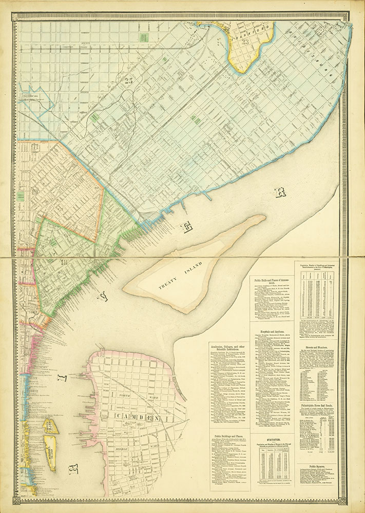 Map of the Whole Incorporated City of Philadelphia, 1867, Plate 4