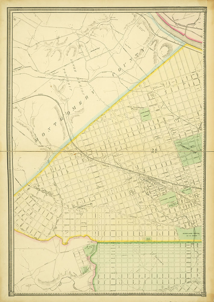 Map of the Whole Incorporated City of Philadelphia, 1867, Plate 6