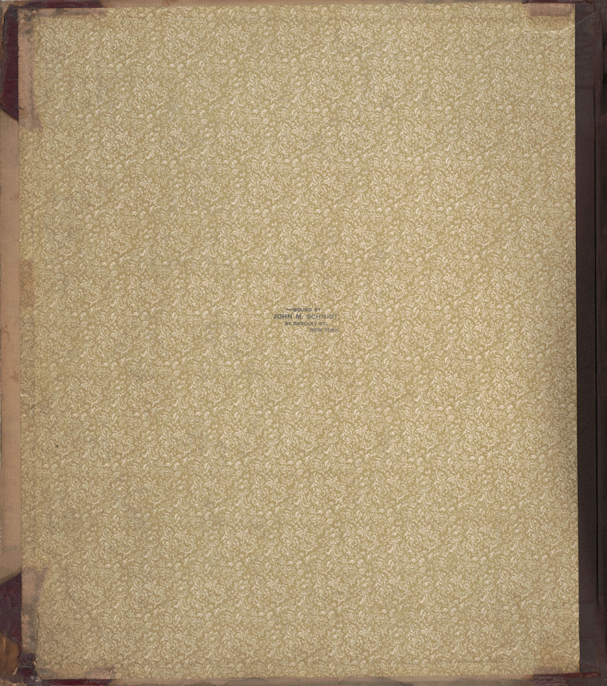 Sanborn's Surveys of the Whiskey Warehouses [...], 1894-1915, Front Endpaper