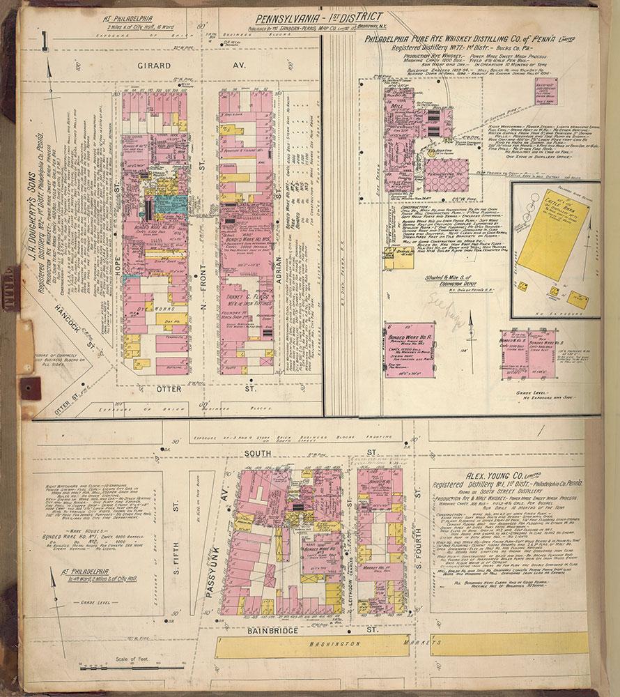 Sanborn's Surveys of the Whiskey Warehouses [...], 1894-1915, Plate 1