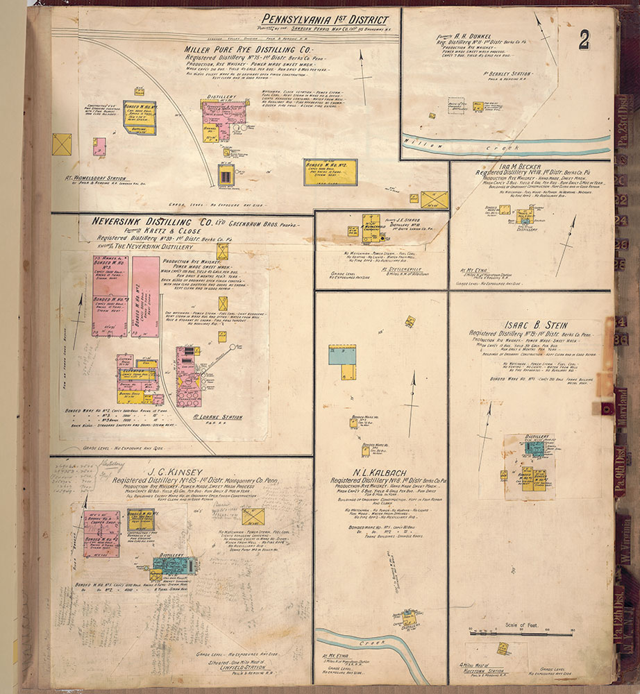 Sanborn's Surveys of the Whiskey Warehouses [...], 1894-1915, Plate 2