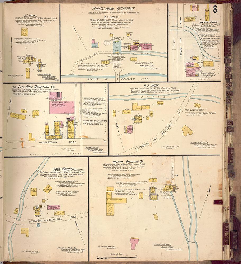 Sanborn's Surveys of the Whiskey Warehouses [...], 1894-1915, Plate 8