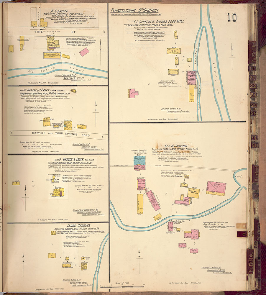 Sanborn's Surveys of the Whiskey Warehouses [...], 1894-1915, Plate 10