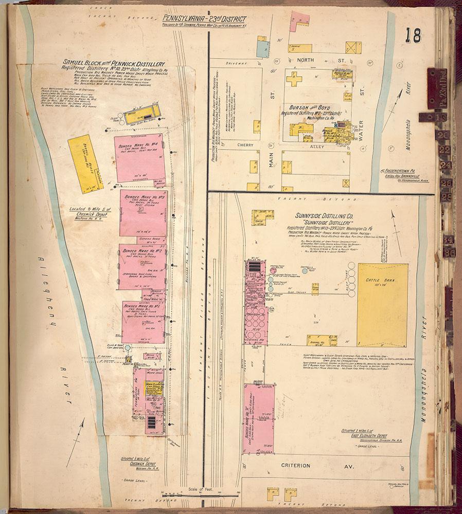 Sanborn's Surveys of the Whiskey Warehouses [...], 1894-1915, Plate 18