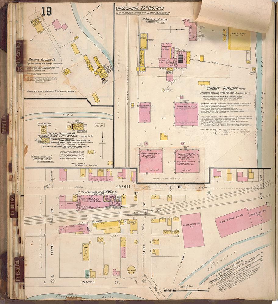 Sanborn's Surveys of the Whiskey Warehouses [...], 1894-1915, Plate 19b