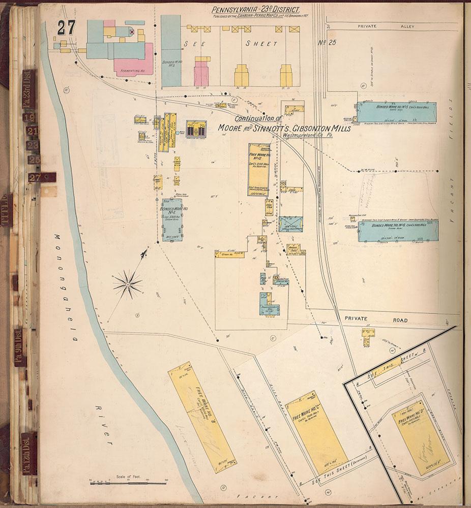 Sanborn's Surveys of the Whiskey Warehouses [...], 1894-1915, Plate 27