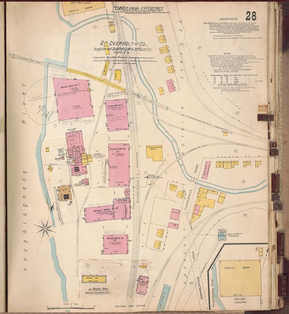 Sanborn's Surveys of the Whiskey Warehouses [...], 1894-1915, Plate 28