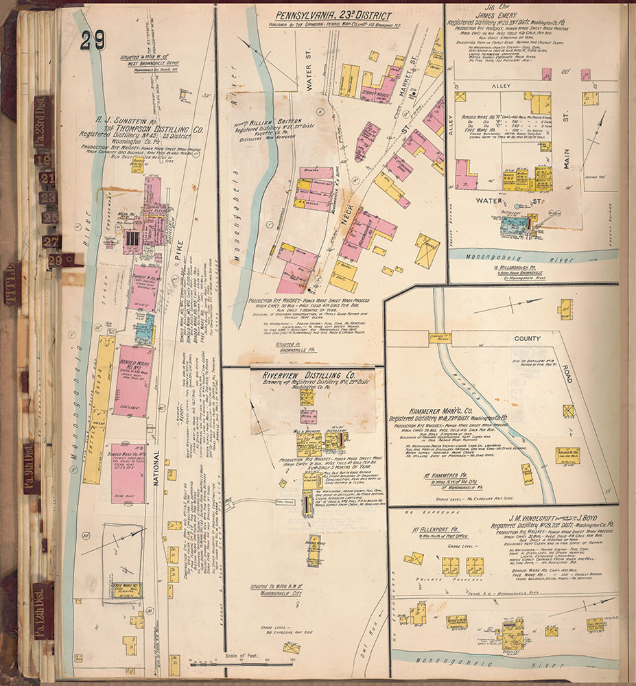 Sanborn's Surveys of the Whiskey Warehouses [...], 1894-1915, Plate 29