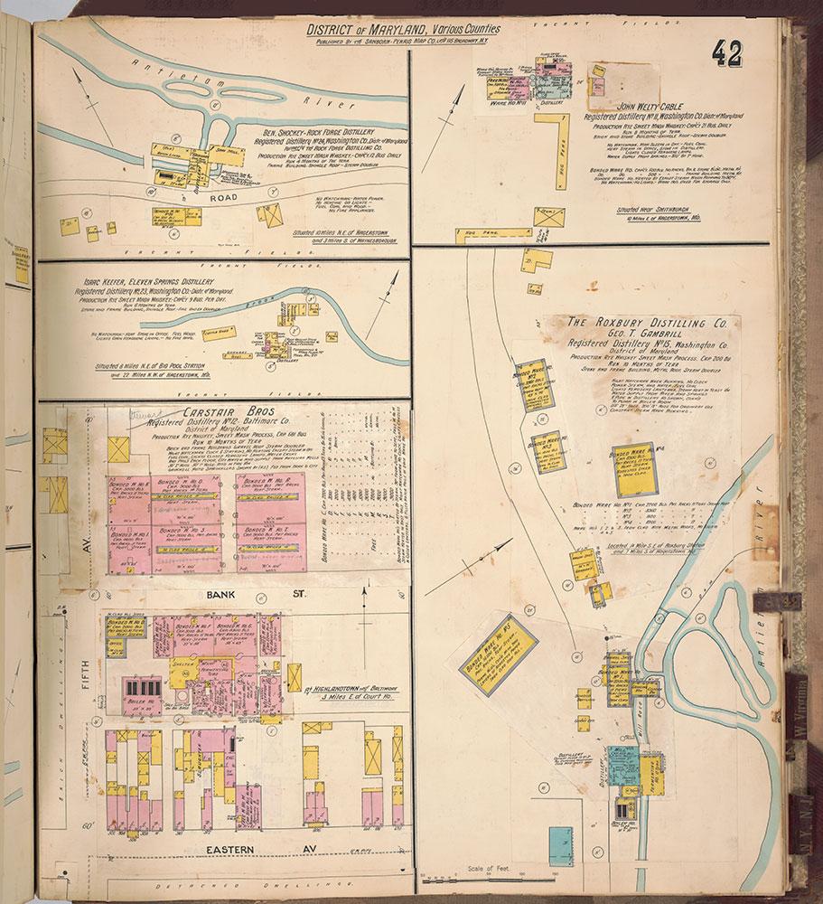 Sanborn's Surveys of the Whiskey Warehouses [...], 1894-1915, Plate 42