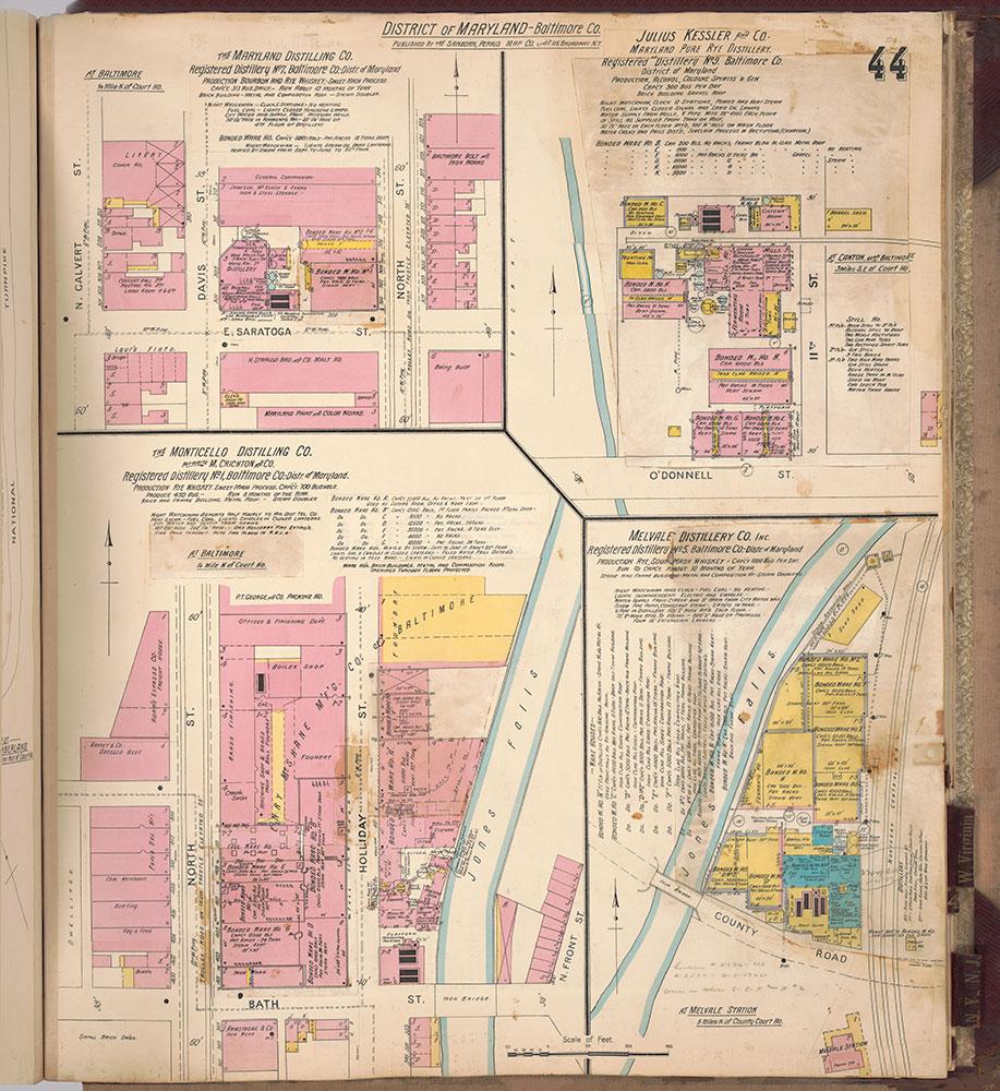 Sanborn's Surveys of the Whiskey Warehouses [...], 1894-1915, Plate 44