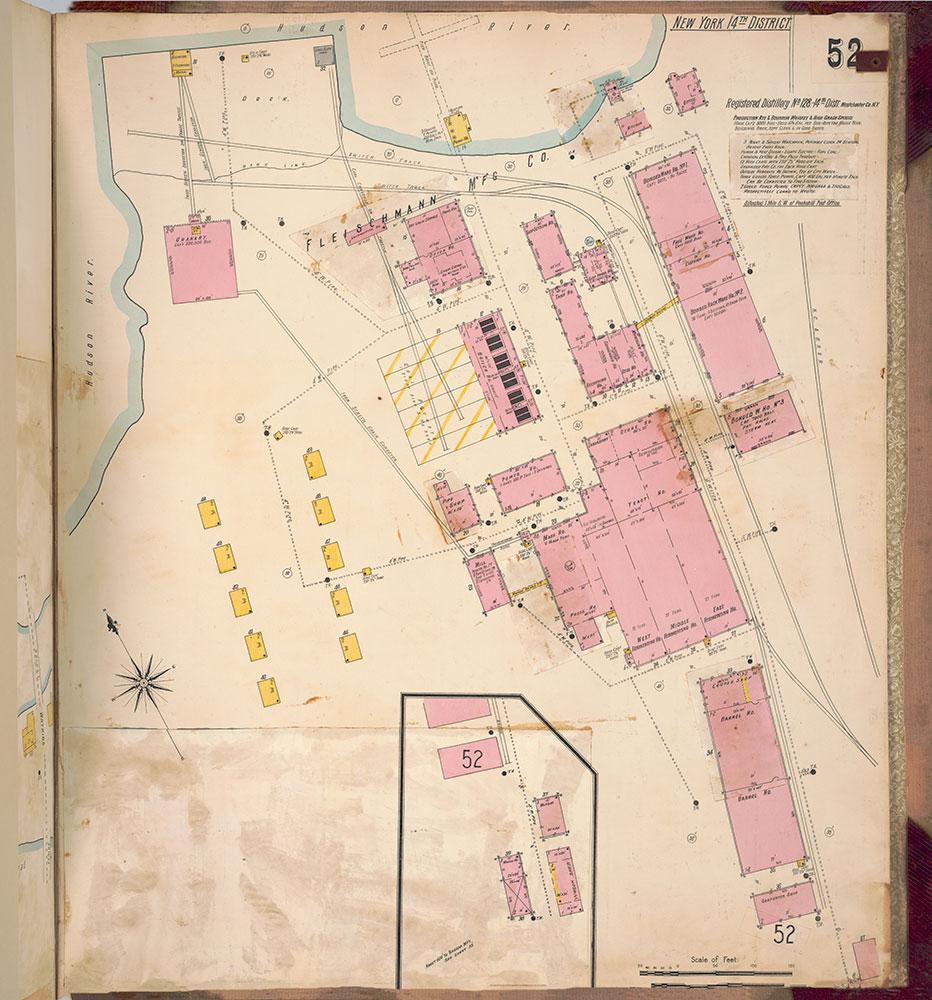 Sanborn's Surveys of the Whiskey Warehouses [...], 1894-1915, Plate 52