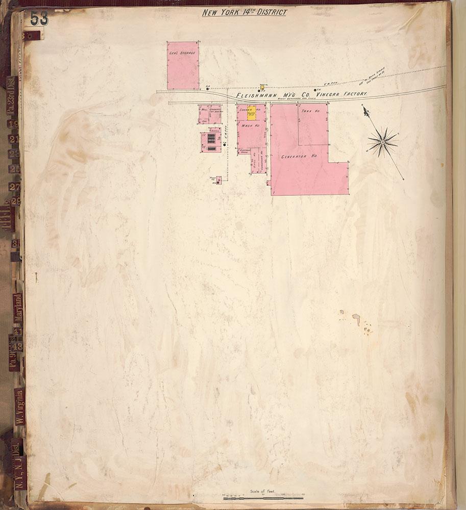 Sanborn's Surveys of the Whiskey Warehouses [...], 1894-1915, Plate 53