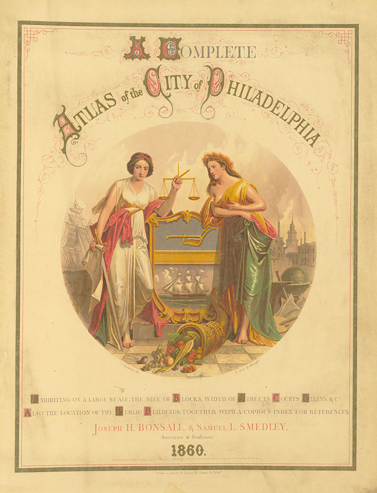 Atlas of the City of Philadelphia, 1860 Title Page 2