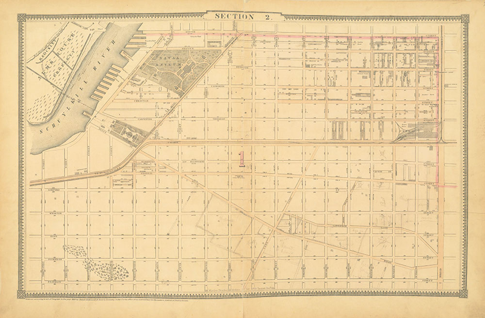 Atlas of the City of Philadelphia, 1862, Section 2