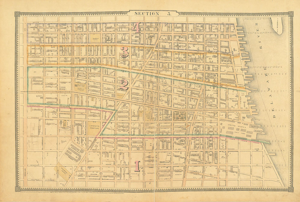 Atlas of the City of Philadelphia, 1862, Section 3