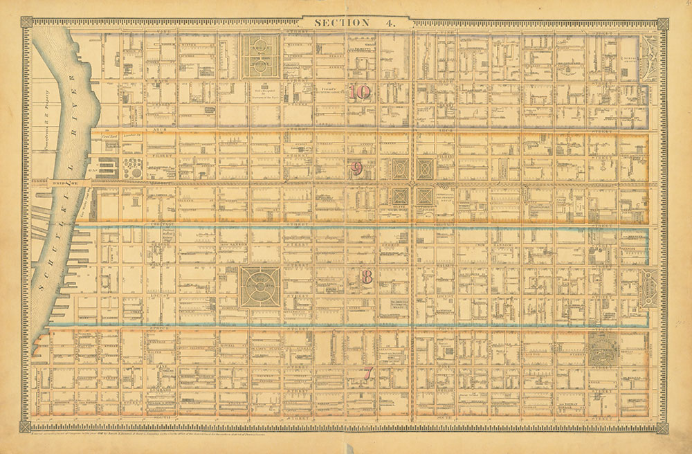 Atlas of the City of Philadelphia, 1862, Section 4