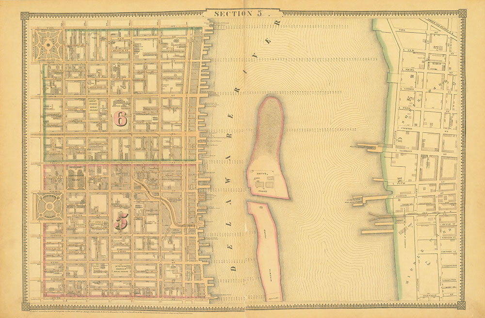 Atlas of the City of Philadelphia, 1862, Section 5
