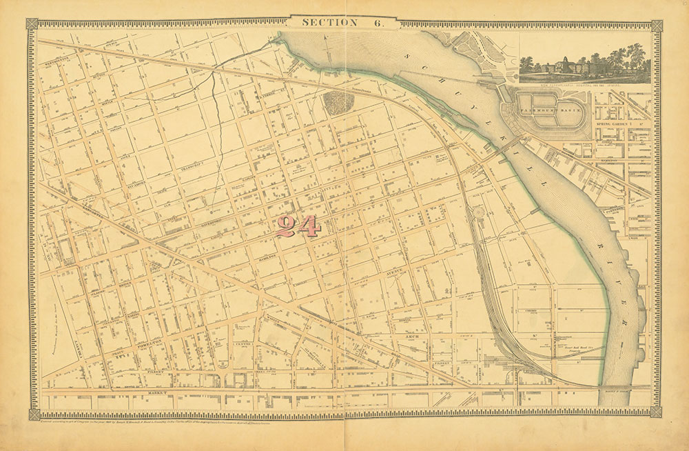 Atlas of the City of Philadelphia, 1862, Section 6