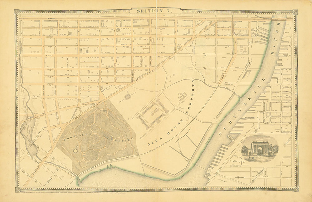 Atlas of the City of Philadelphia, 1862, Section 7
