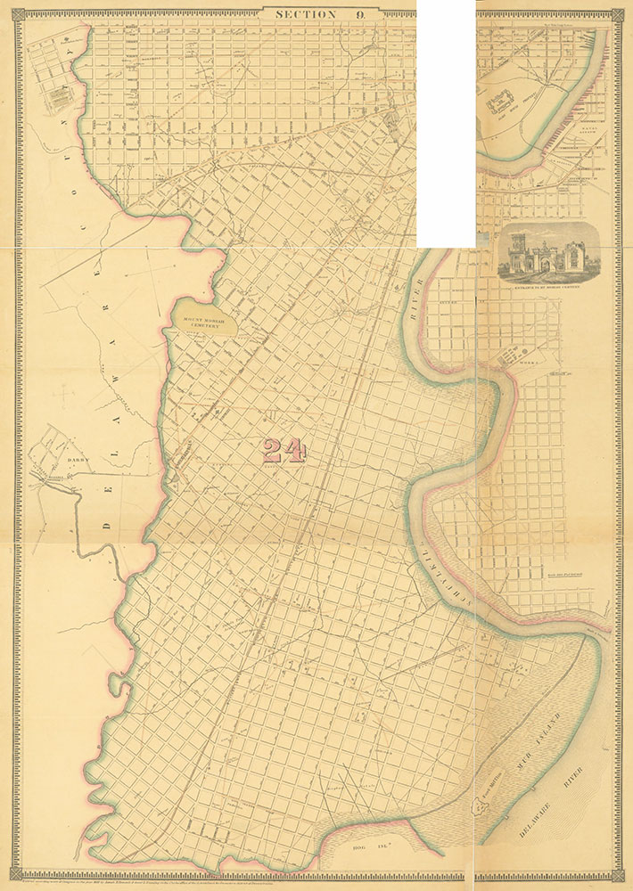 Atlas of the City of Philadelphia, 1862, Section 9