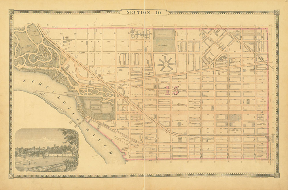 Atlas of the City of Philadelphia, 1862, Section 10
