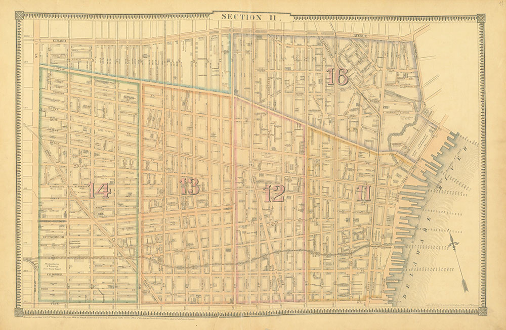 Atlas of the City of Philadelphia, 1862, Section 11