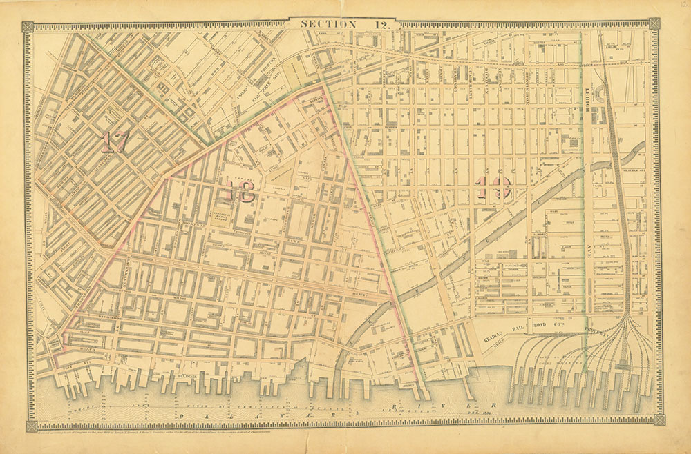Atlas of the City of Philadelphia, 1862, Section 12