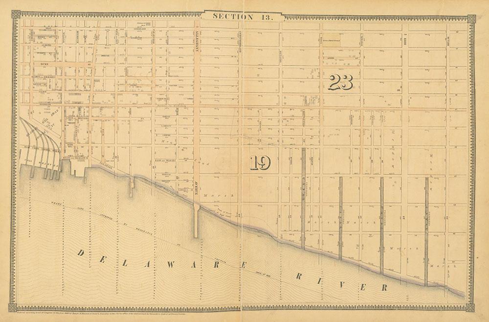 Atlas of the City of Philadelphia, 1862, Section 13