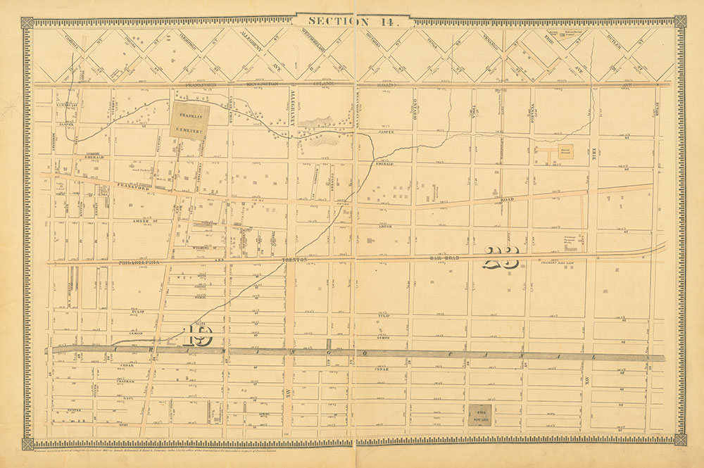 Atlas of the City of Philadelphia, 1862, Section 14