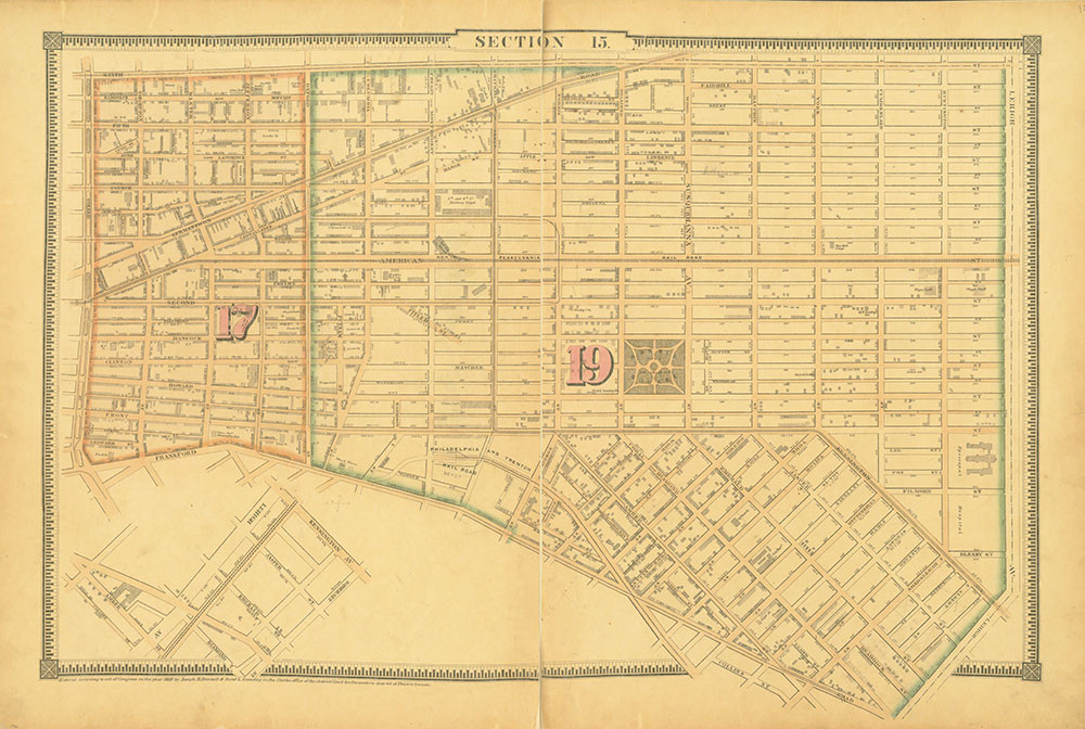 Atlas of the City of Philadelphia, 1862, Section 15