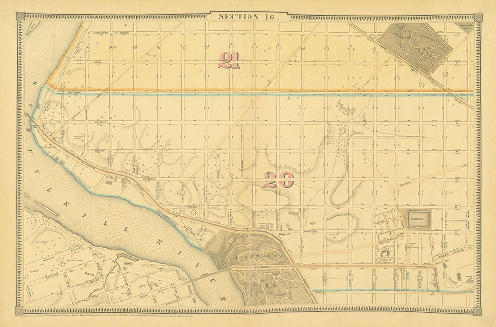 Atlas of the City of Philadelphia, 1862, Section 16