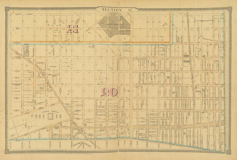 Atlas of the City of Philadelphia, 1862, Section 17