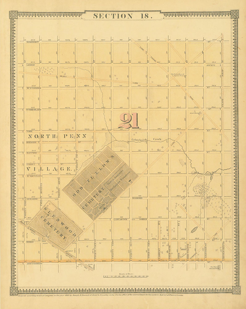 Atlas of the City of Philadelphia, 1862,  Section 18