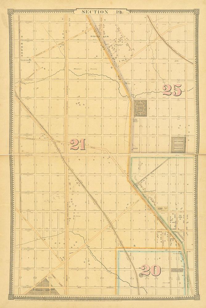 Atlas of the City of Philadelphia, 1862, Section 19