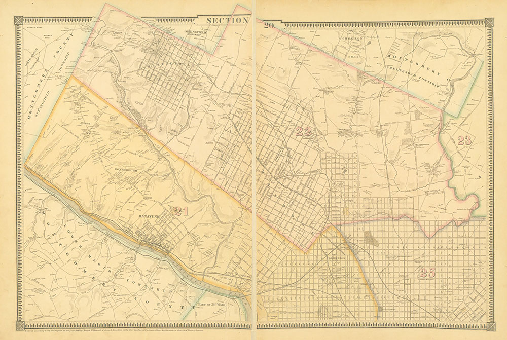 Atlas of the City of Philadelphia, 1862, Section 20