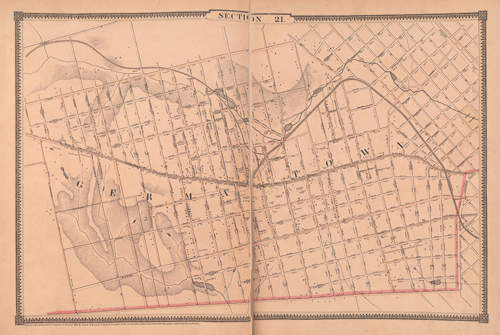 Atlas of the City of Philadelphia, 1862, Section 21