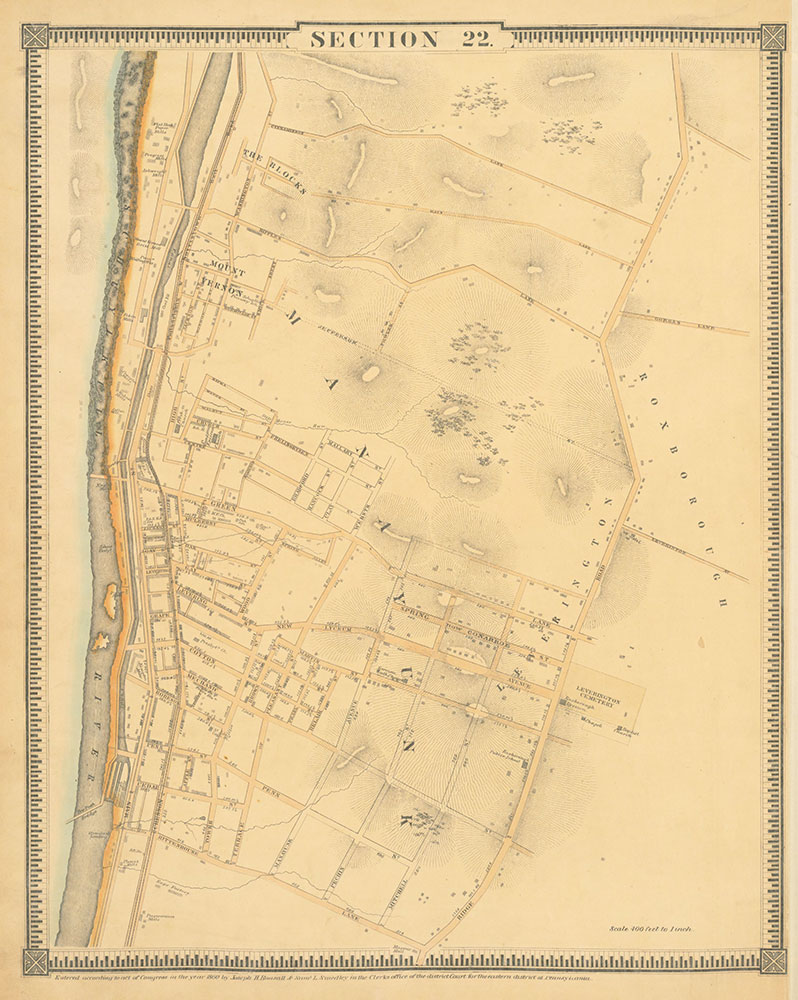 Atlas of the City of Philadelphia, 1862, Section 22