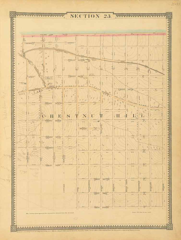 Atlas of the City of Philadelphia, 1862, Section 23