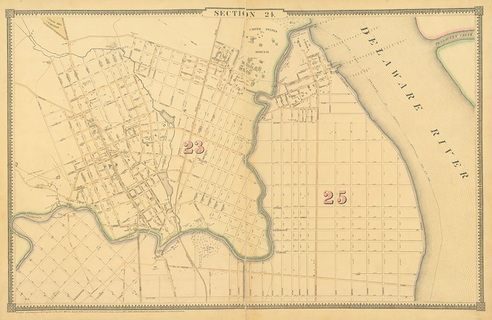 Atlas of the City of Philadelphia, 1862, Section 24