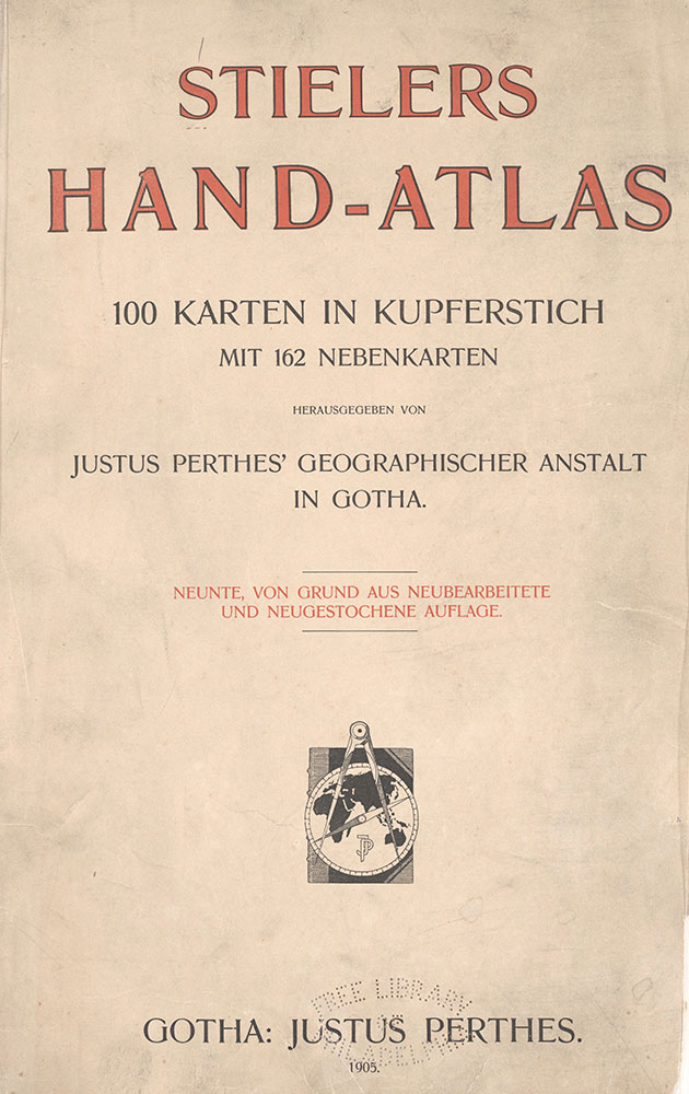 Stielers Hand-Atlas, Title page
