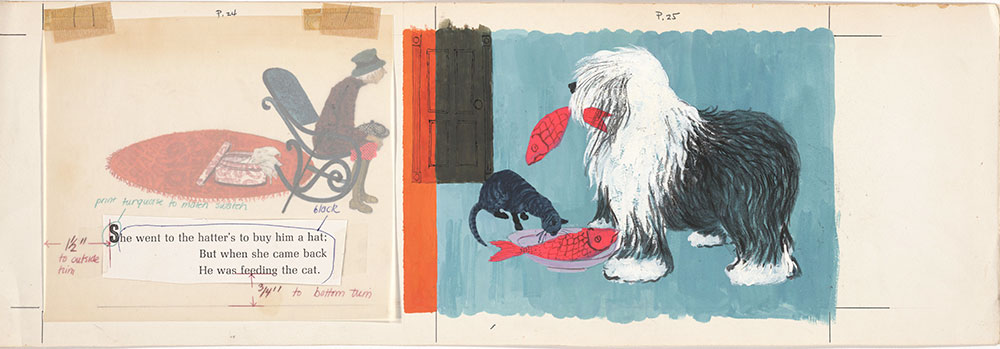 Final art for Old Mother Hubbard and Her Dog, pages 24 and 25