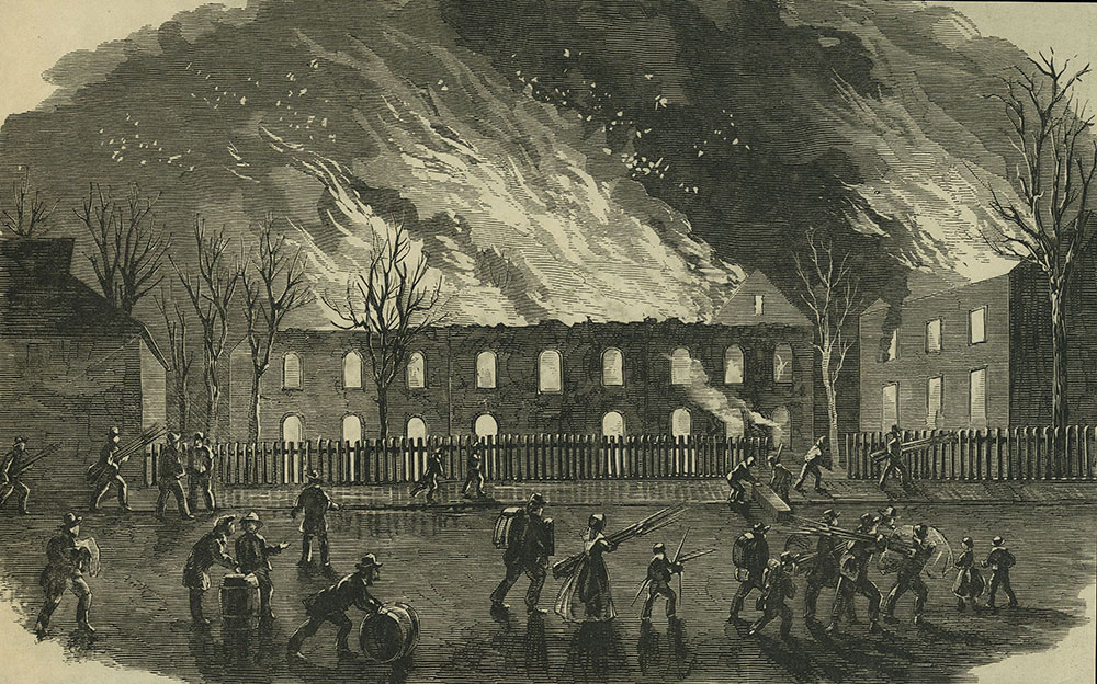 Burning of the United States Arsenal at Harper's Ferry, April 1861