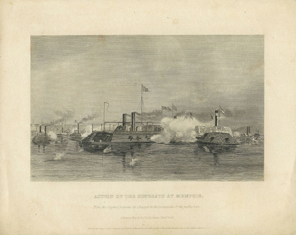 Action of the Gunboats at Memphis
