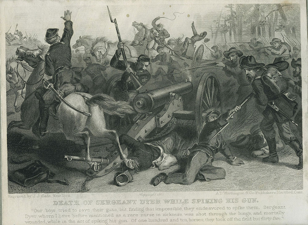 Death of Seargeant Dyer While Spiking the Gun
