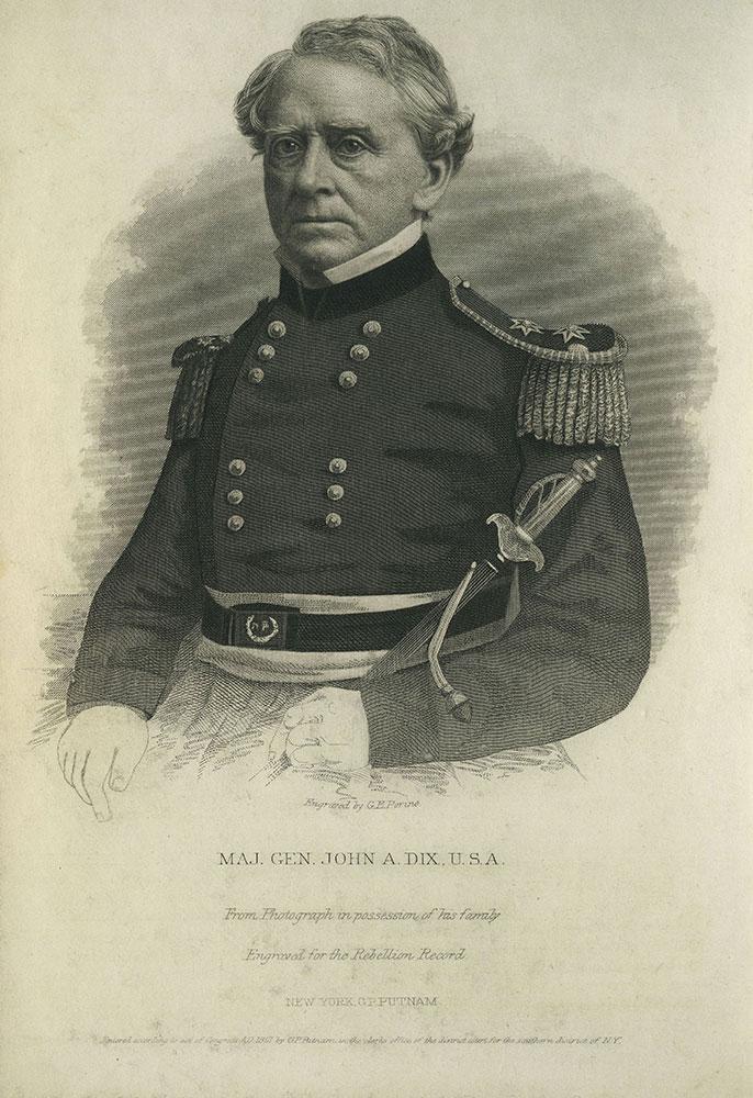 Maj. Gen. John A. Dix. U.S.A.