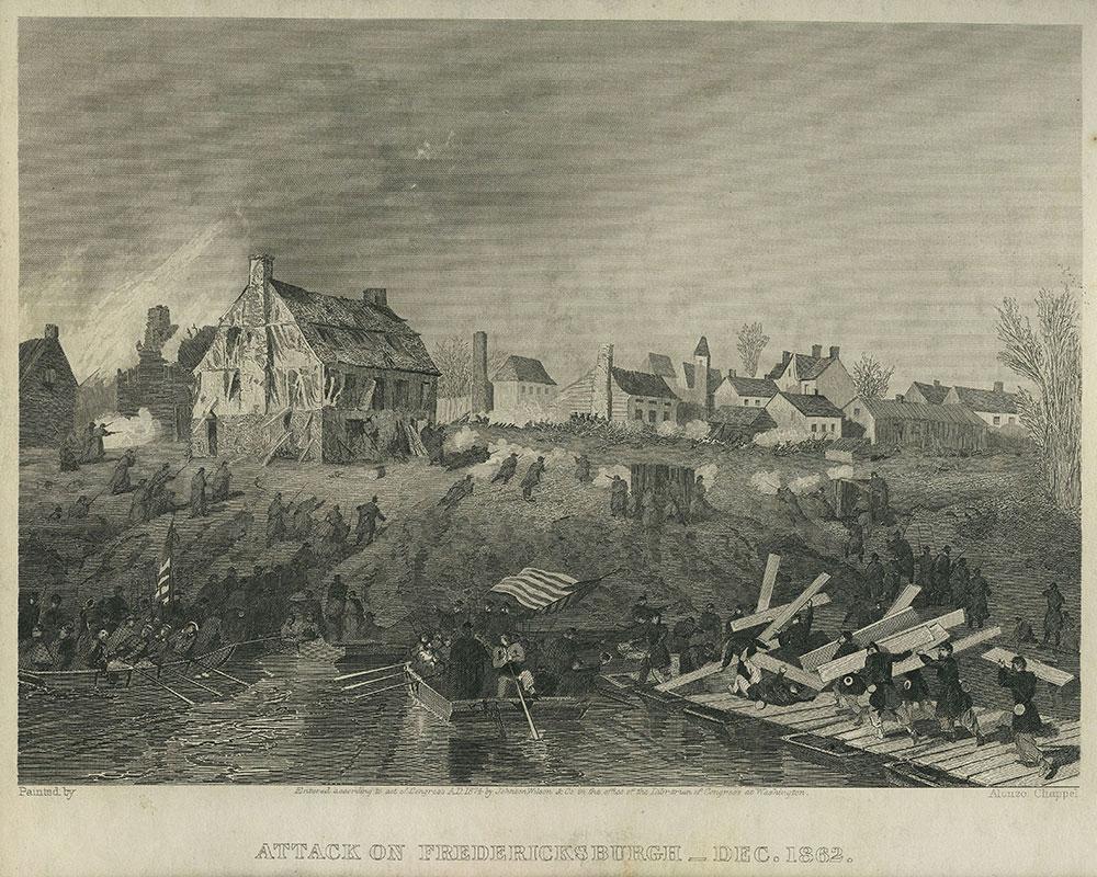 Attack on Fredericksburgh - Dec. 1862