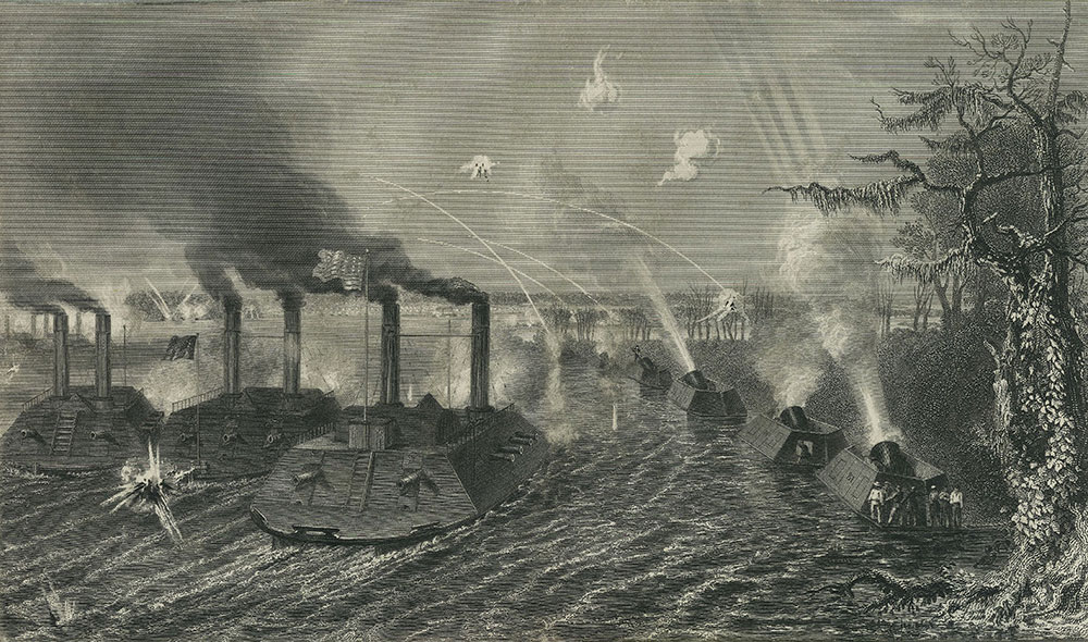Gun and Mortar Boats on the Mississippi.