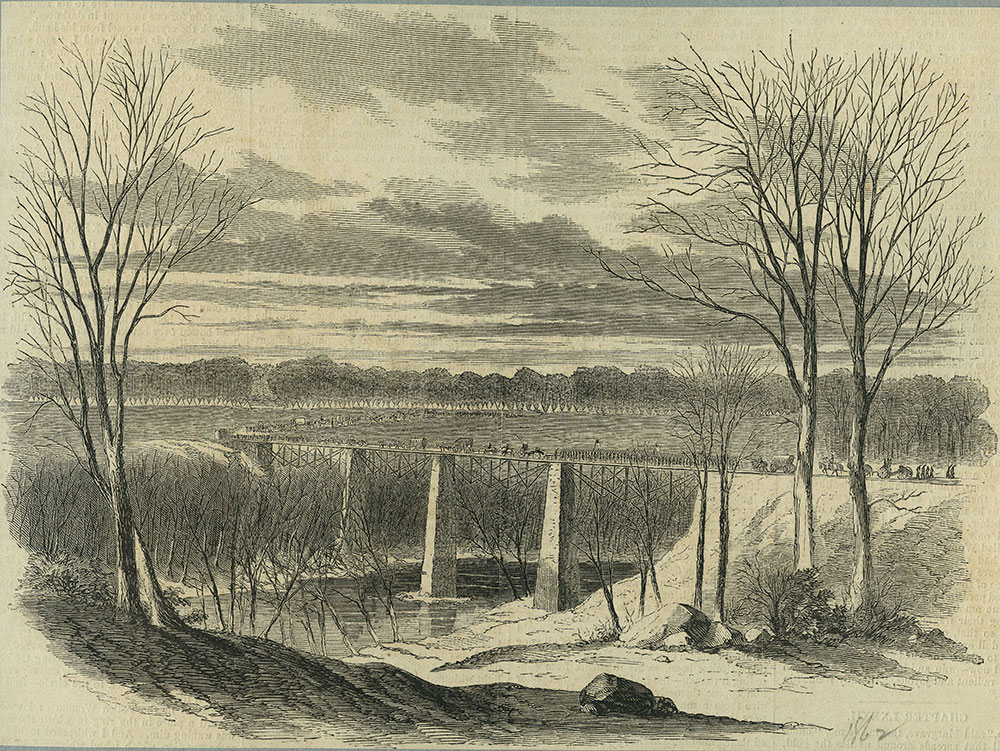 General Mitchell's Division Crossing Green River, Kentucky, October 10, 1862